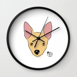 Chihuahua Face Wall Clock