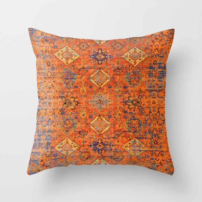 Oriental Vitange Moroccan Rug Design Throw Pillow