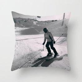 skier Alps Throw Pillow