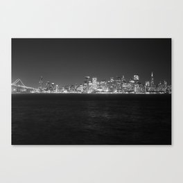 SF at as night seen from Treasure Island Canvas Print