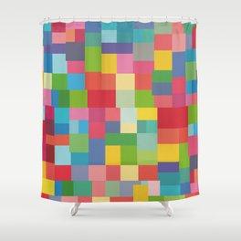 Mid-Century Modern Colorful Geometric Shower Curtain