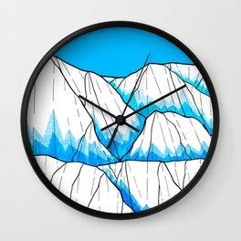 Glacier hills Wall Clock