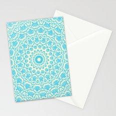 aqua twirl Stationery Cards