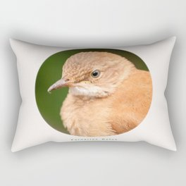 Brown Bird - Furnarius Rufus  Rectangular Pillow