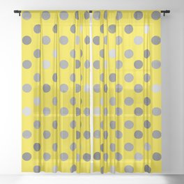 Polka Proton Yellow Sheer Curtain