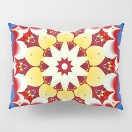 Robot Bird Mandala Pillow Sham