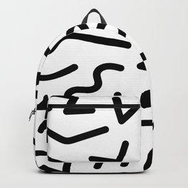Memphis Minimal Design - Black and White Backpack