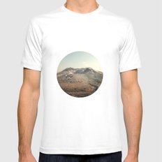 Mt. St. Helens Mens Fitted Tee MEDIUM White