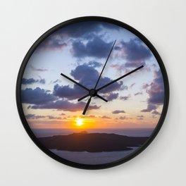 Sunset at Santorini Wall Clock