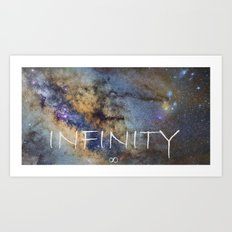 Milky way. Infinity. Scorpius and Sagittarius. Art Print