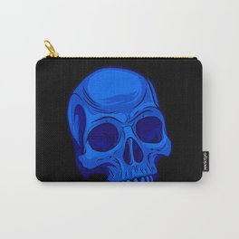 Skull - Blue Carry-All Pouch