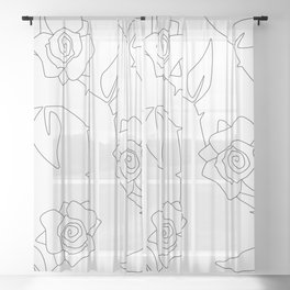 Rose Bush Sheer Curtain