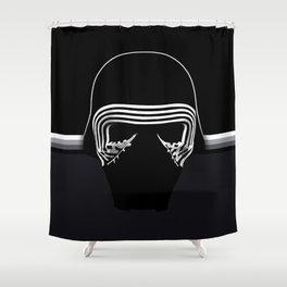 the new villain's helmet, kylo ren Shower Curtain