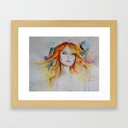 Jennifer Lawrence Watercolor (Light) Framed Art Print