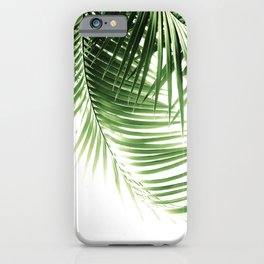Palm Leaves Green Vibes #9 #tropical #decor #art #society6 iPhone Case