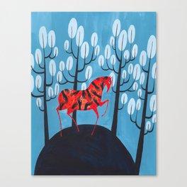 Smug red horse Canvas Print