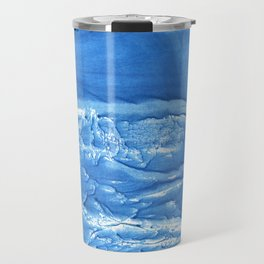Corn flower blue abstract watercolor painting Travel Mug
