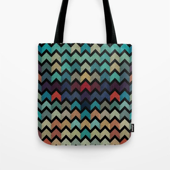 Colorful Chevron Pattern Tote Bag