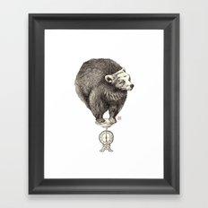 Bear your weight Framed Art Print