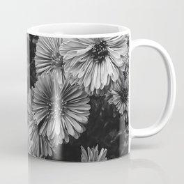 FLOWERS - FLORAL - BLACK AND WHITE Coffee Mug