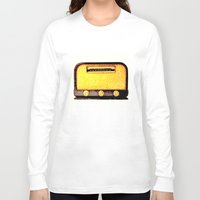 radio Long Sleeve T-shirts featuring Old Radio by Mr & Mrs Quirynen