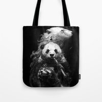 bears Tote Bags featuring bears by kian02