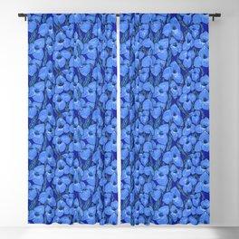 Cornflower Blue Puya Flowers Botanical Floral Pattern Blackout Curtain