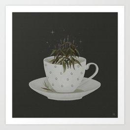 Echinacea tea Art Print