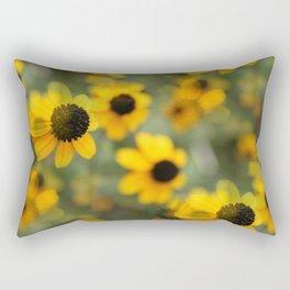 Black Eyed Susan Floral Rectangular Pillow