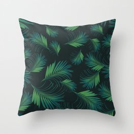 Tropical Night Palms Pattern #1 #tropical #decor #art #society6 Throw Pillow