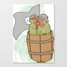 Pirate Wants a Cracker Canvas Print