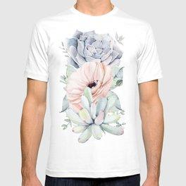 Pastel Succulents by Nature Magick T-shirt