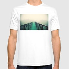 suspension bridge Mens Fitted Tee MEDIUM White