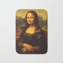 Leonardo Da Vinci Mona Lisa Painting Bath Mat