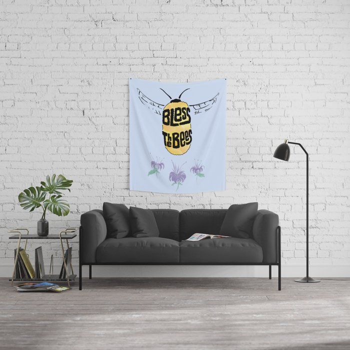 Bless the Bees Wall Tapestry