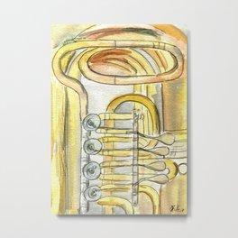 Tuba Tubs Metal Print