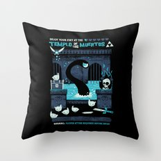 Templo de los Muertos Throw Pillow