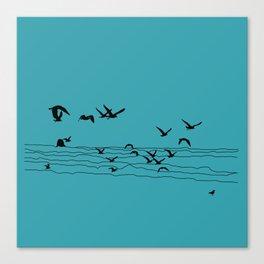 Seagull Beach by Seasons K Designs Canvas Print