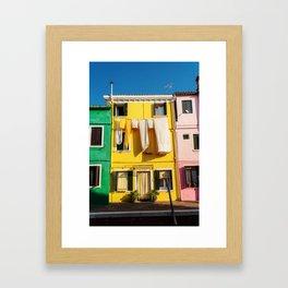 Beautiful Burano Italy Framed Art Print