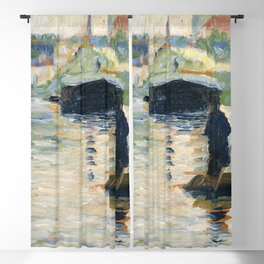 View of the Seine (ca 1882-1883) by Georges Seurat Blackout Curtain
