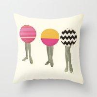 feet Throw Pillows featuring Dancing Feet by Cassia Beck