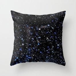 Blue Goldstone Throw Pillow