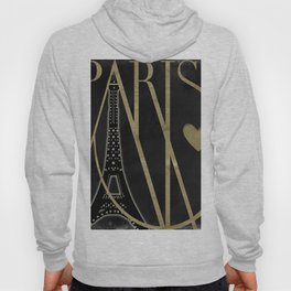 I Love Paris Black Hoodie
