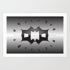 puppy love ink blot (Rorschach) Art Print