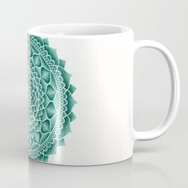 Teal Sand Mandala Coffee Mug