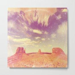 Navajo Country - America As Vintage Album Art Metal Print