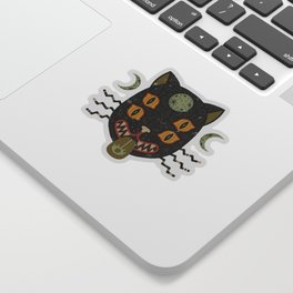 Spooky Cat Sticker