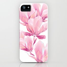 Crystal Pink orchid, polygon flowers, beautiful floral background iPhone Case