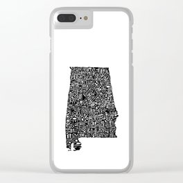 Typographic Alabama Clear iPhone Case
