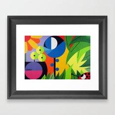 Flowers - Paint Framed Art Print